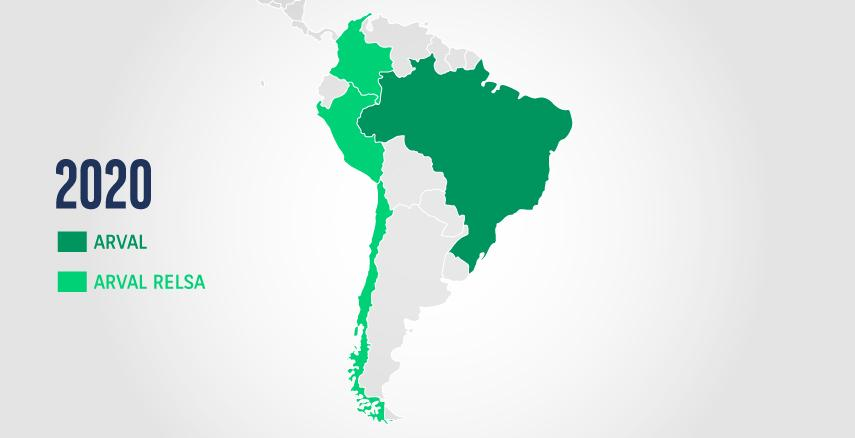 Sudamerica map